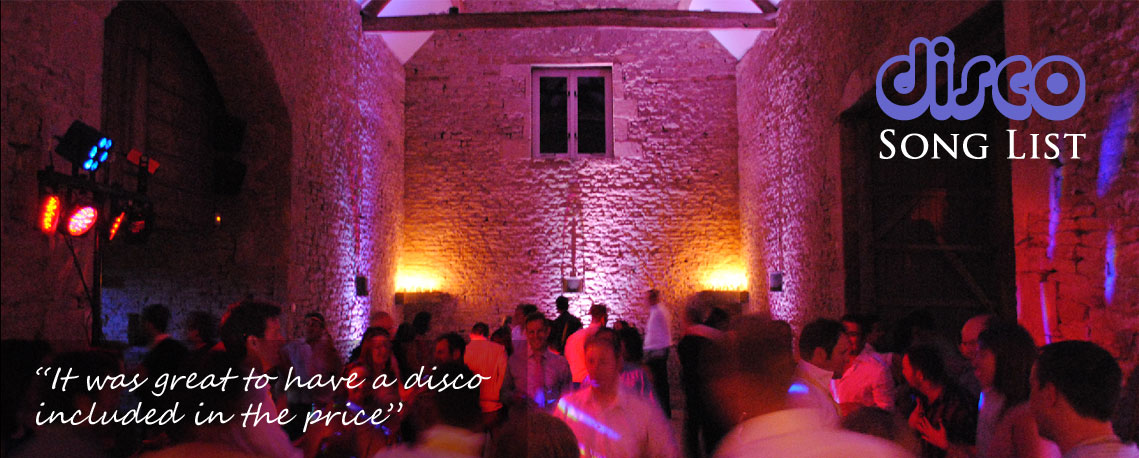 Bristol Wedding Disco List
